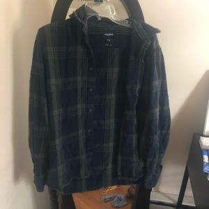 blue and green plaid flannel (unisex)
